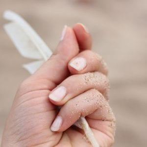 Manicura con esmalte normal
